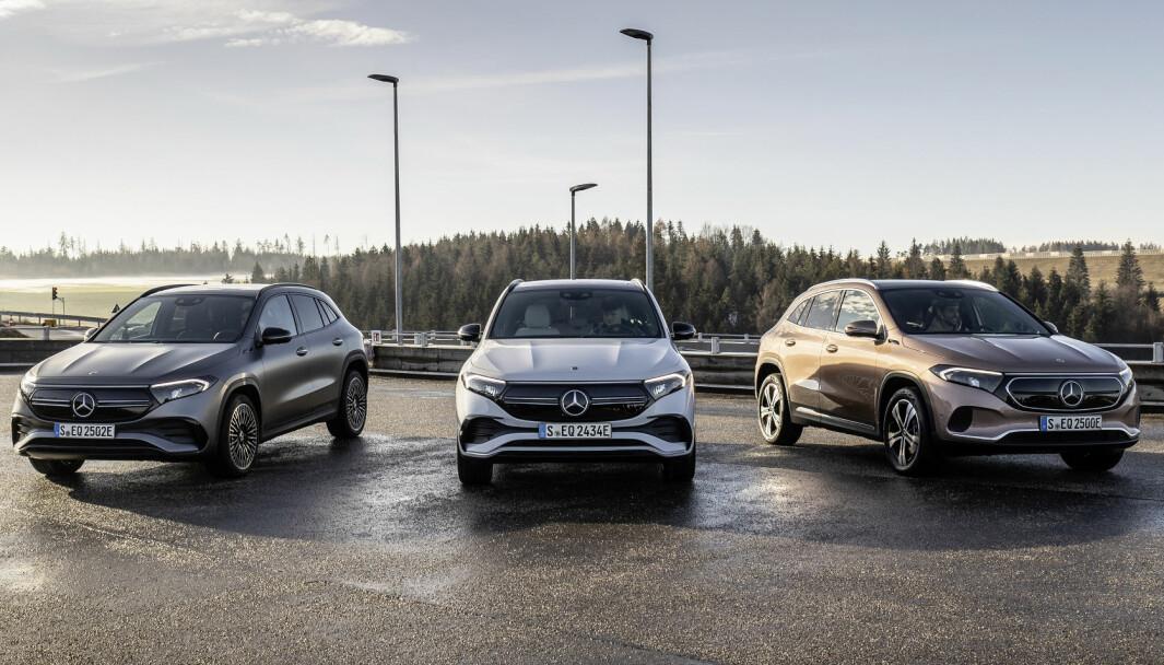 AVDUKET: Her er det første visuelle inntrykket av den nye elektriske SUV-en Mercedes EQA.