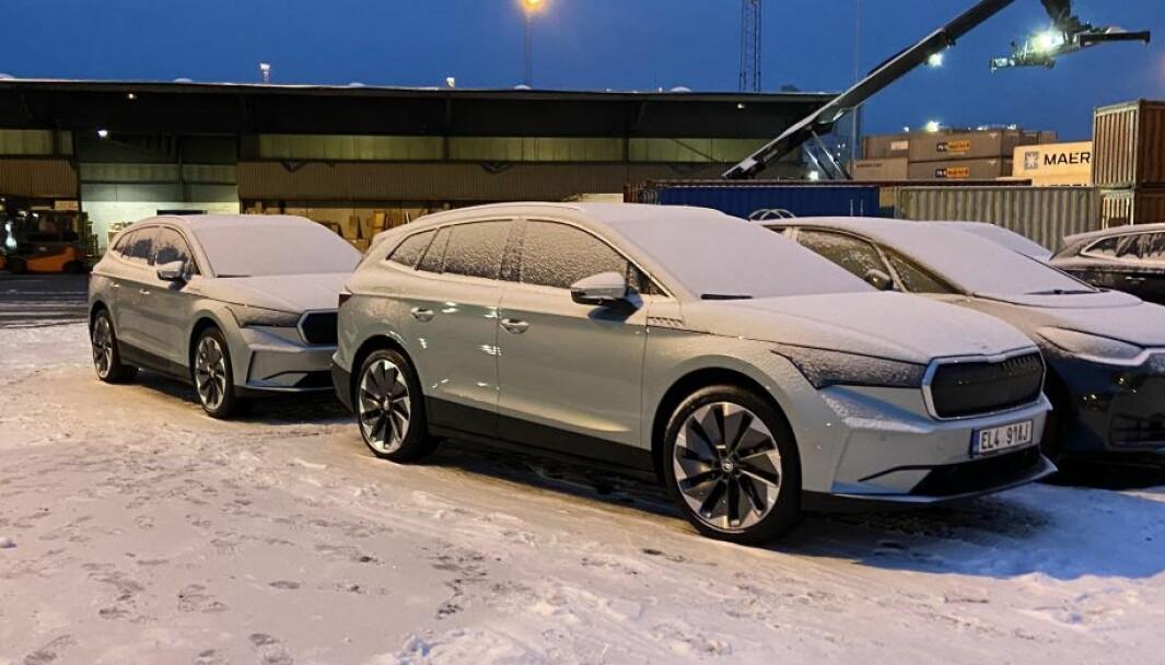 I NORGE: De første 25 Skoda Enyaq-modellene er nå i Norge.