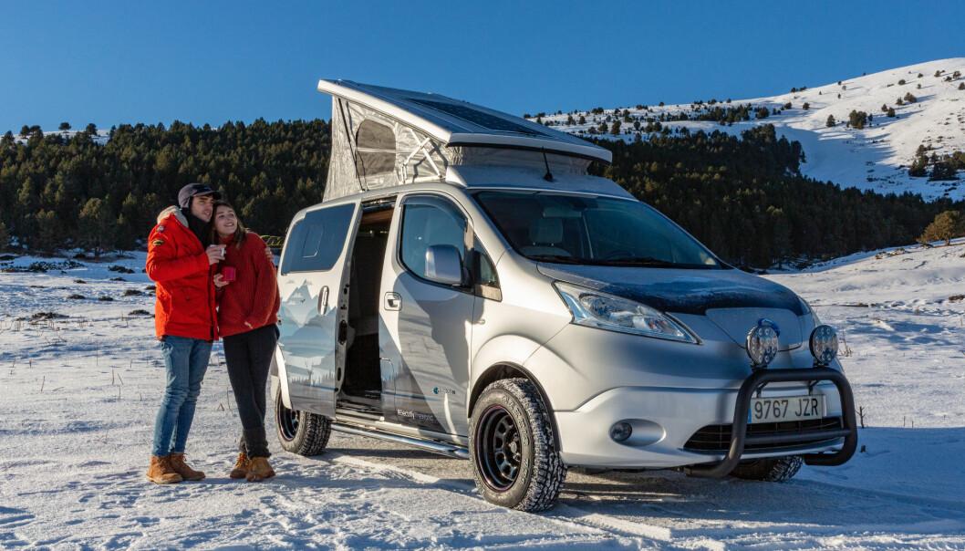 UTENFOR BOKSEN: Nissans tanker om campinglivets gleder med en dertil egnet elektrisk farkost er ganske originale.