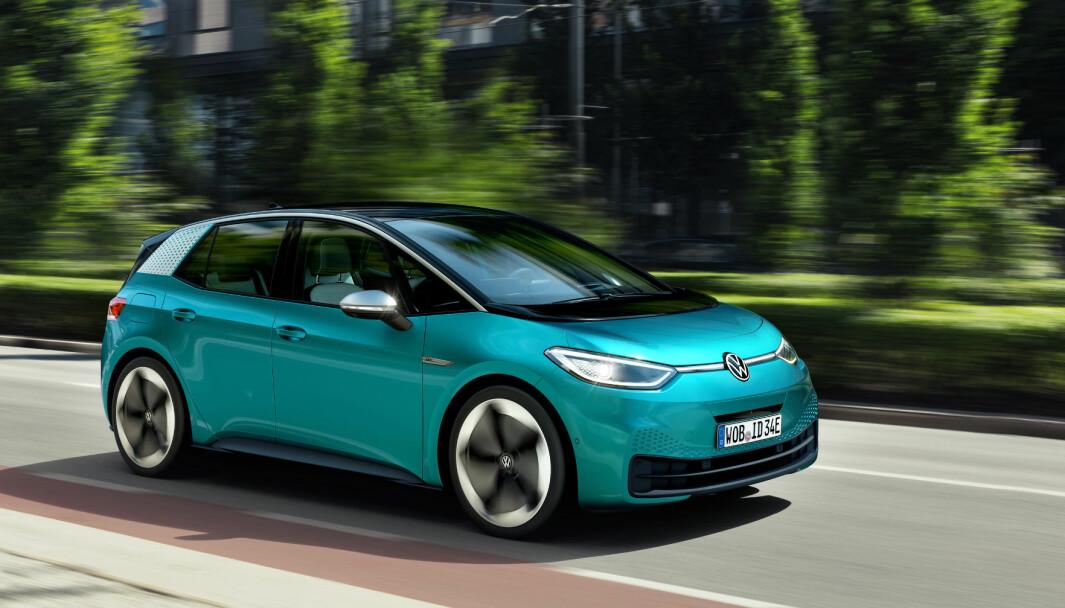 LEDET AN: Det var mer enn noen annen modell Volkswagen ID.3 (bildet), som sørget for den kraftige veksten for elbilene i Europa i fjor.