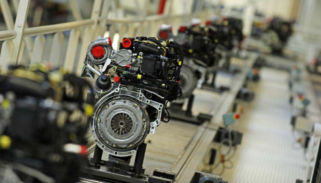 DIESELKØ: 1,6 liters HDi-motorer på rekke på Tremery-fabrikken utenfor Metz.