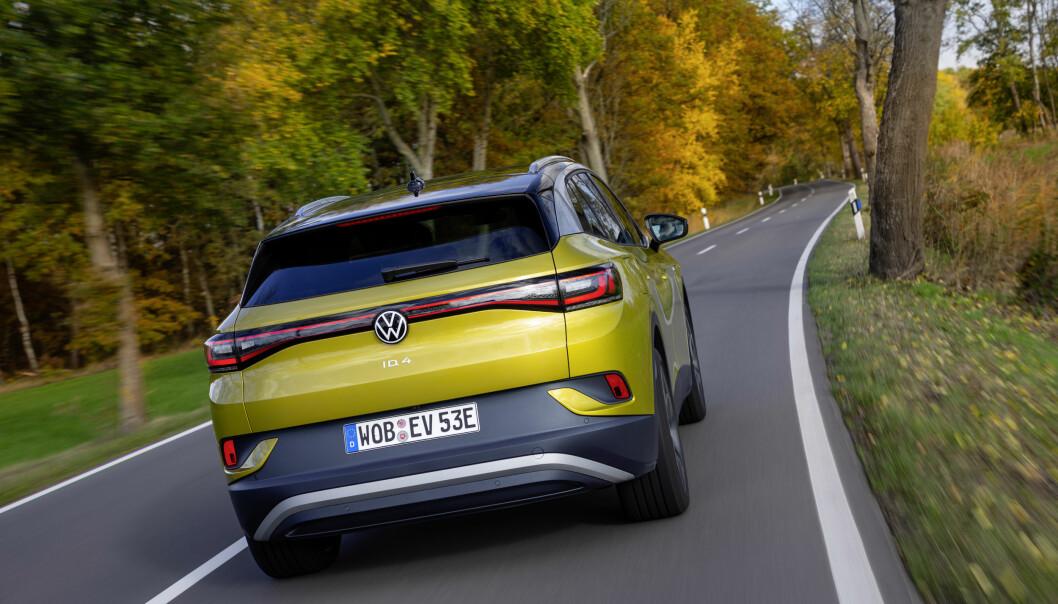 """<span class="""" font-weight-bold"""" data-lab-font_weight_desktop=""""font-weight-bold"""">GÅR UNNA:</span> Bestillingene av ID.4 har gått svært bra, i følge Volkswagen. Lanseringsmodellene er nå sluttprodusert fra fabrikken."""