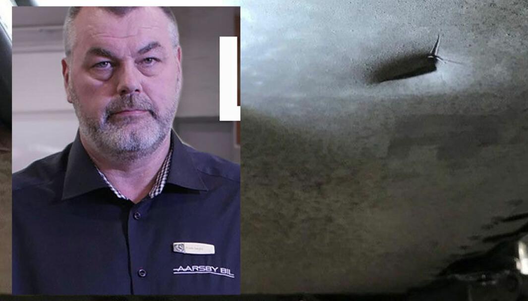 GLEM DET: Merkeverkstedleder Frode Aarsby kan reparere bunnplata til en brøkdel av prisen, men blir kontant avvist av Jaguar.