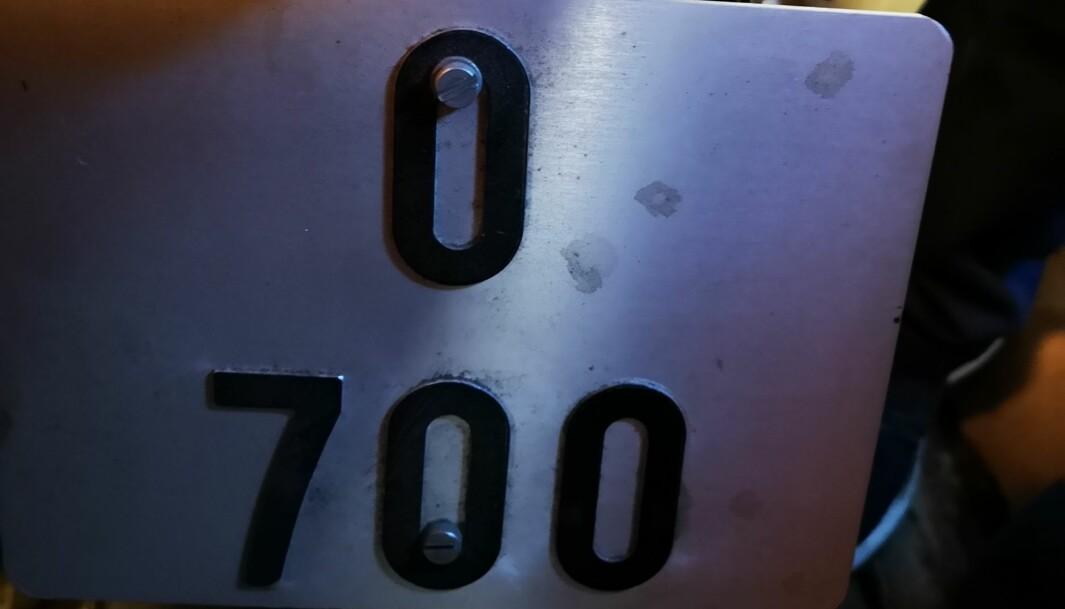 "<span class="" font-weight-bold"" data-lab-font_weight_desktop=""font-weight-bold"">O700:</span> Skiltnummeret på motorsykkelen er både sjeldent og spesielt."