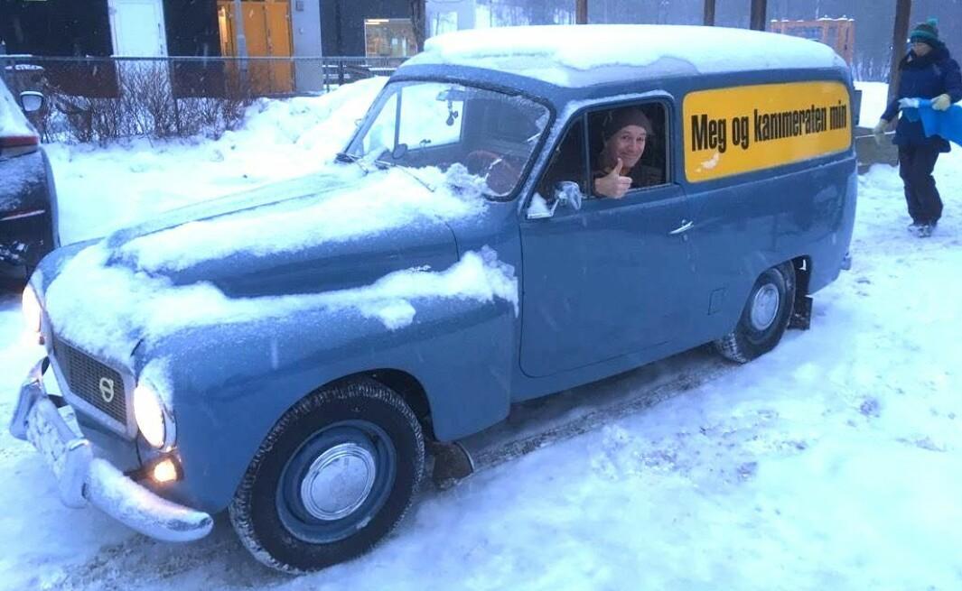 """<span class=""""font-weight-bold"""" data-lab-font_weight_desktop=""""font-weight-bold"""">SNØMANN:</span> Musiker Martin Hagfors har latt Volvo Duett påvirke minst et par av sine kjente låter, som «JFK Loved Volvos Too»."""