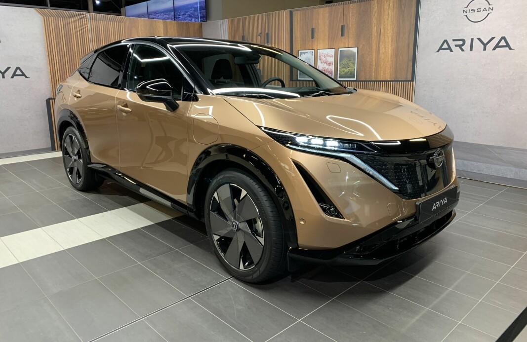 Her er el-SUV-en Nissan Ariya på besøk i Norge