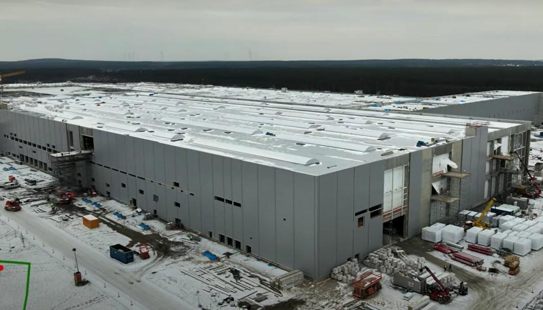 ARBEID PÅGÅR: Den nye Tesla-fabrikken er nå under bygging utenfor Berlin.