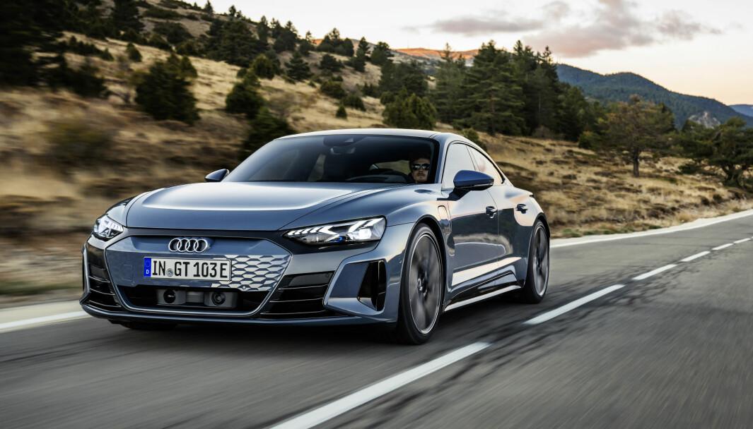 NORGESKLAR: Audi e-tron GT er Audis nye elektriske prestisjebil.