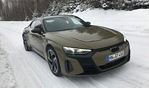 Her er første Audi e-tron GT på norsk snø