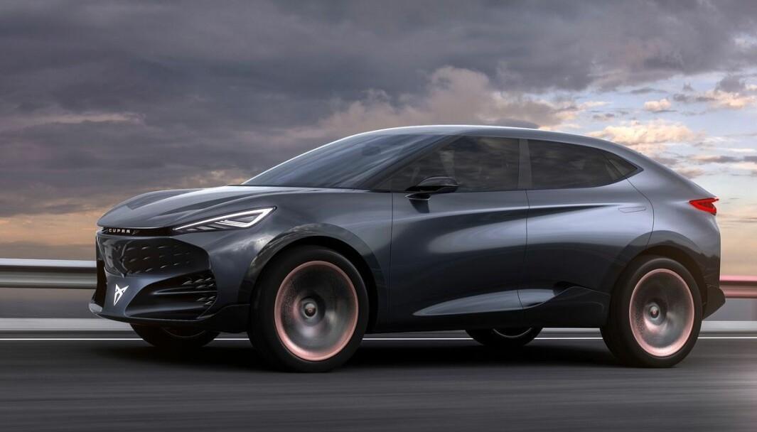SPORTY EL-SUV: Etter ladehybriden Formentor og elbilen Born, ventes denne fra Cupra. Den vil være basert på konseptbilen Tavascan fra 2019.