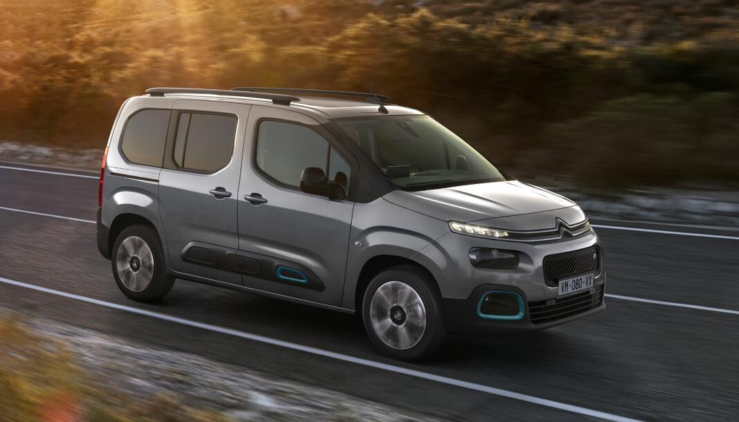 SÅ VAR DE SEKS: Nå kan man velge mellom store og små trillinger fra Stellantis-gruppen. Sist ut: Citroën ë-Berlingo.