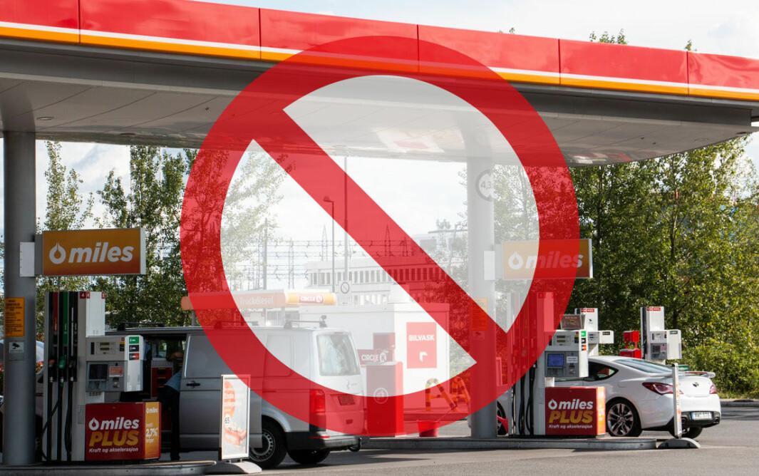 FORBUDSTIDEN: En amerikansk by innfører forbud mot nye bensinstasjoner, men det spørs om denne Circle K-stasjonen i Oslo vil rammes av liknende forbud…