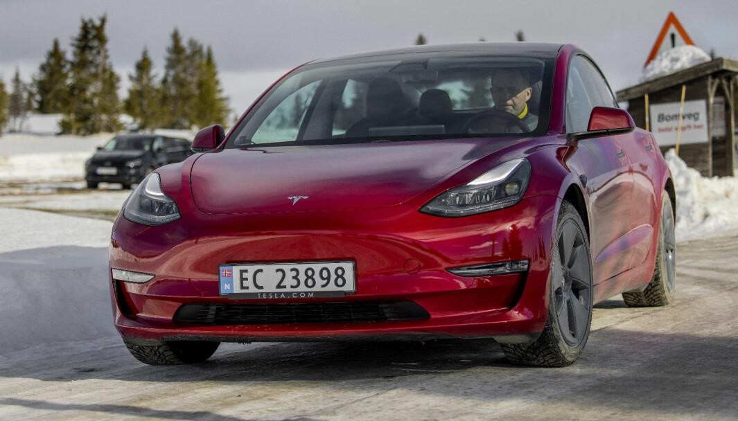 FREMGANG: Tesla leverte ut rekordmange biler i første kvartal, og toppet også registreringsstatistikken i Norge i mars med sin Model 3.