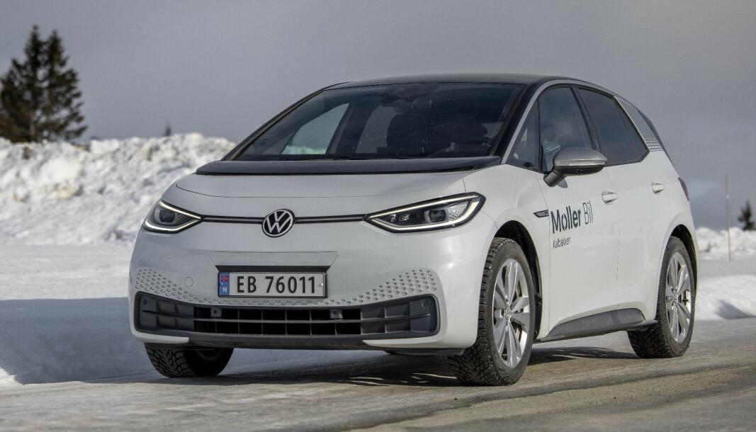 FRAMGANG: VW ID.3 viser at den har solide elbilkvaliteter.