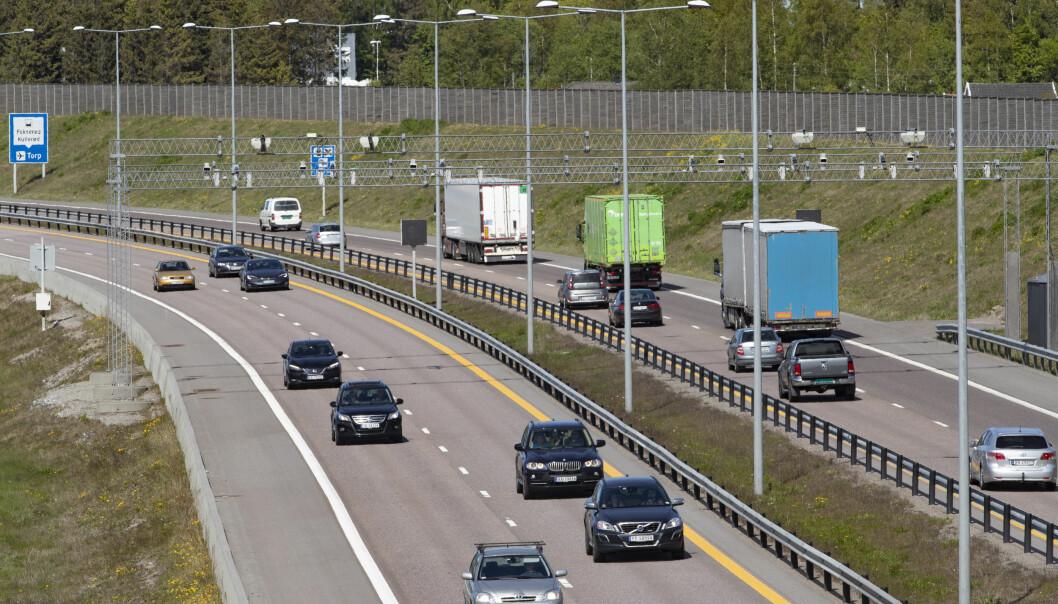 GRATIS: På E18 ved Fokserød i Sandefjord er det fortsatt gratis for elbiler.