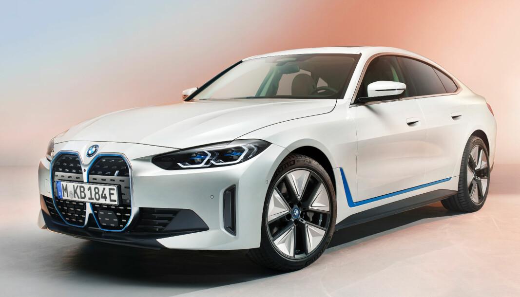 OFFISIELL: Slik ble den altså seende ut, BMW i4, som en elektrisk variant av 4-serie Gran Coupé.