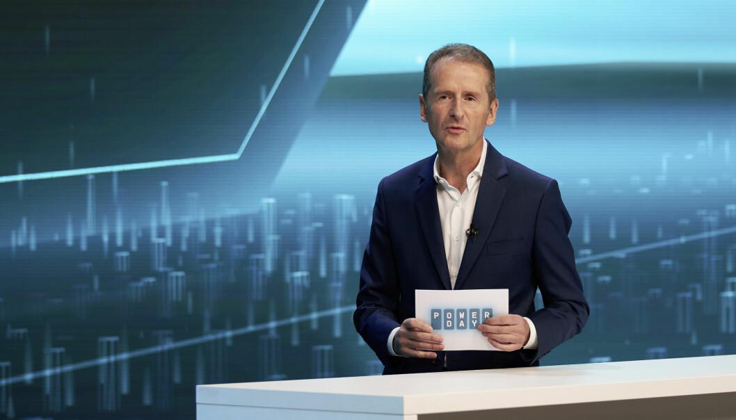 NEIN OG ATTER NEIN: VWs toppsjef Herbert Diess mener hydrogen for personbiler er et blindspor.