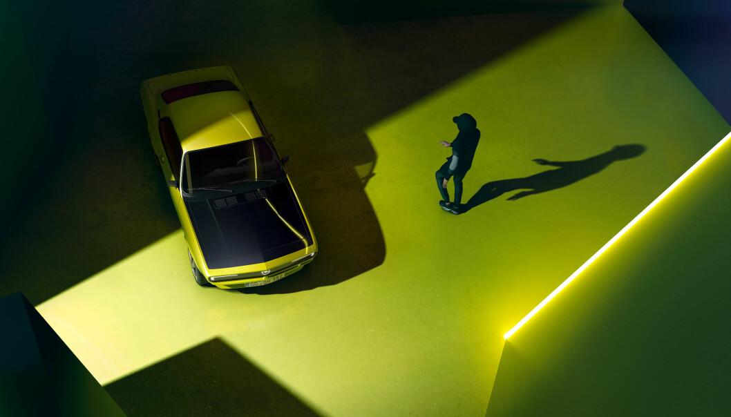 RETRO: Opel jobber nå med å gjøre legendariske Manta helelektrisk.