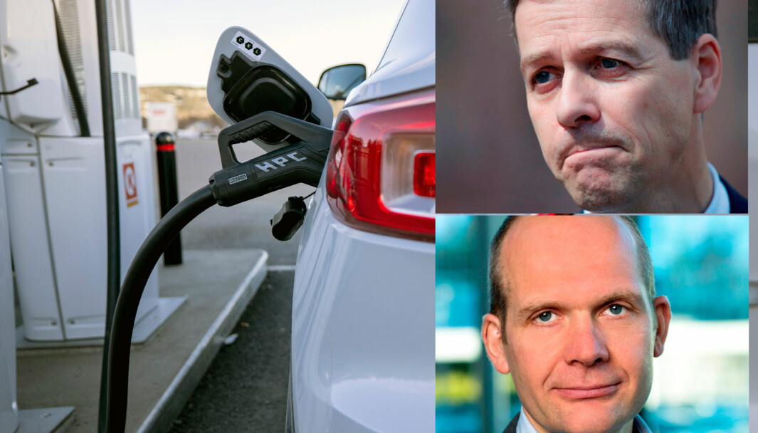 UENIGE OM LADING: Samferdselsminister Knut Arild Hareide (over) og Møller-sjef Ulf Tore Hekneby.
