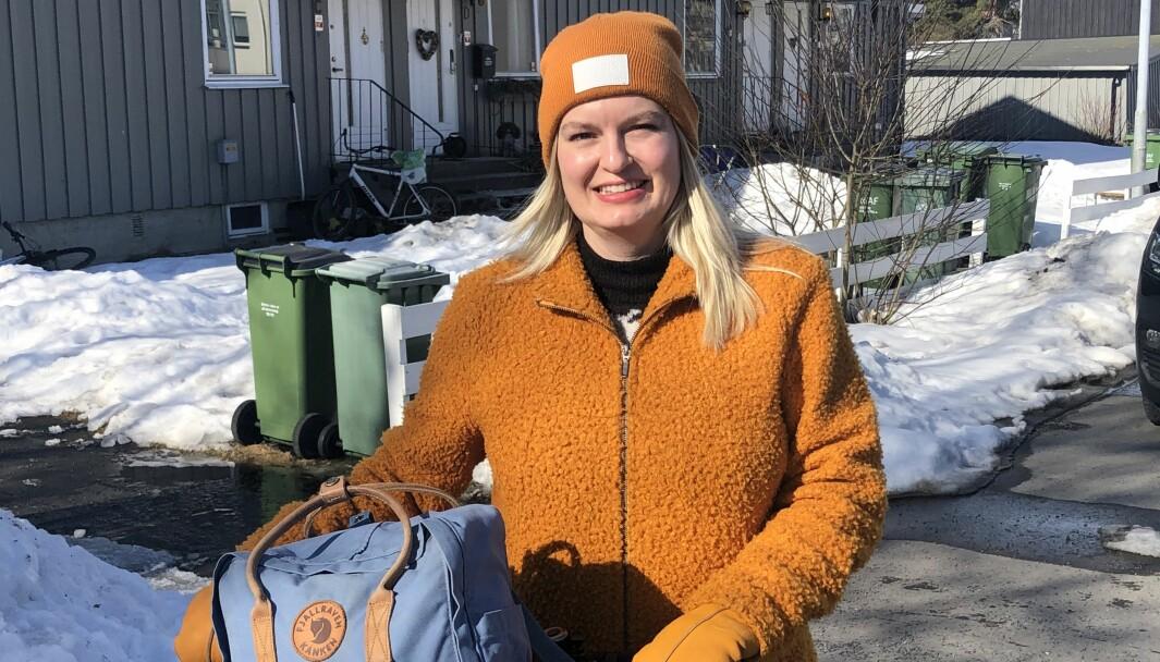 FORTVILER: Taina Bjerkholt la ikke merke til de lave fakturaene som havnet i nettbanken. Til daglig sykler hun mest.