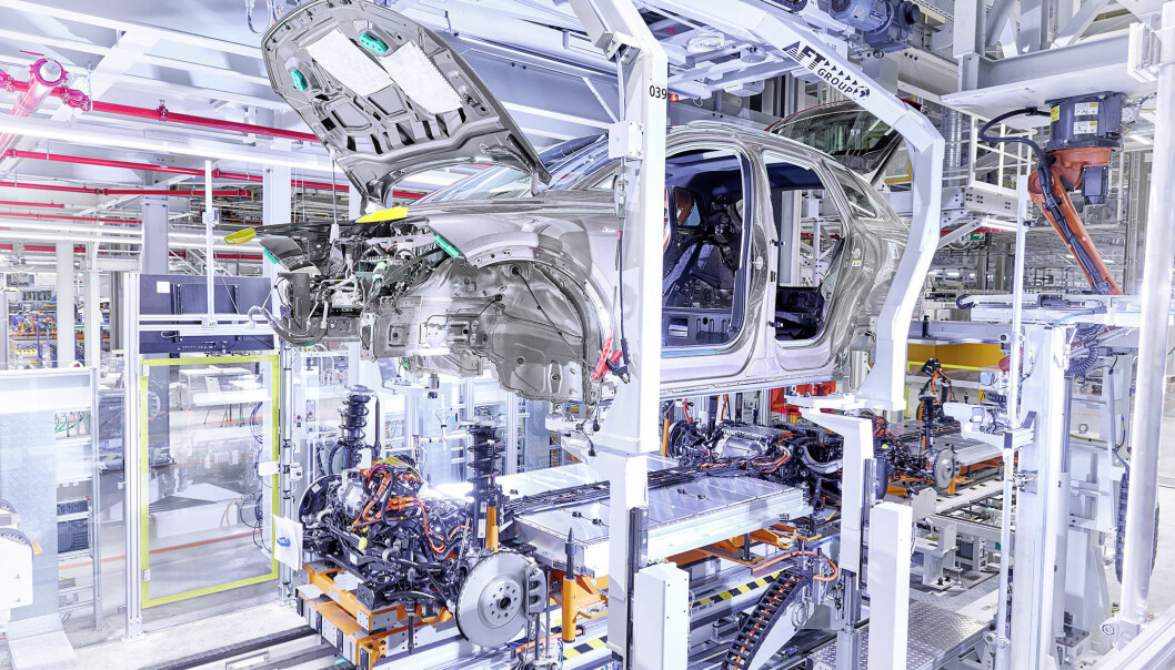 """<span class=""""font-weight-bold"""" data-lab-font_weight_desktop=""""font-weight-bold"""">SAMMENKOBLET:</span> Zwickau-fabrikken er historisk grunn for Audi."""
