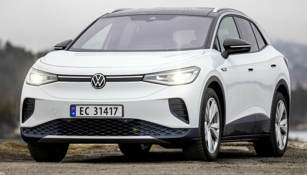 MER ENN EN OPPBLÅST ID.3: Vel er fronten mer av det samme, men VW har klart å gi ID.4 en egen karakter.