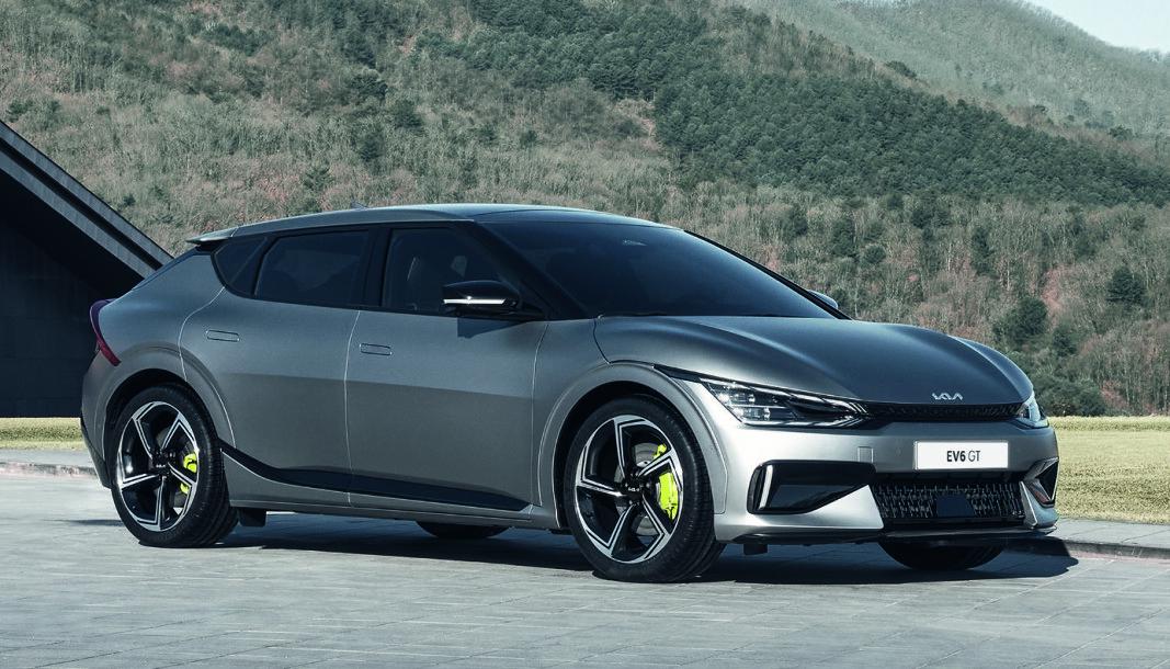 LYNET PÅ HJUL: Kias nye elbil er en sporty crossover, som kommer i en høy-ytelsesversjon kalt EV6 GT (bildet).