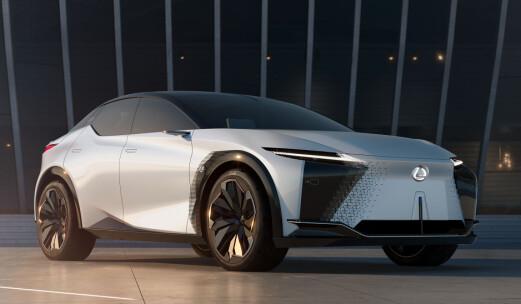 Lexus viser elbil med 90 kWt-batteri og 60 mil rekkevidde