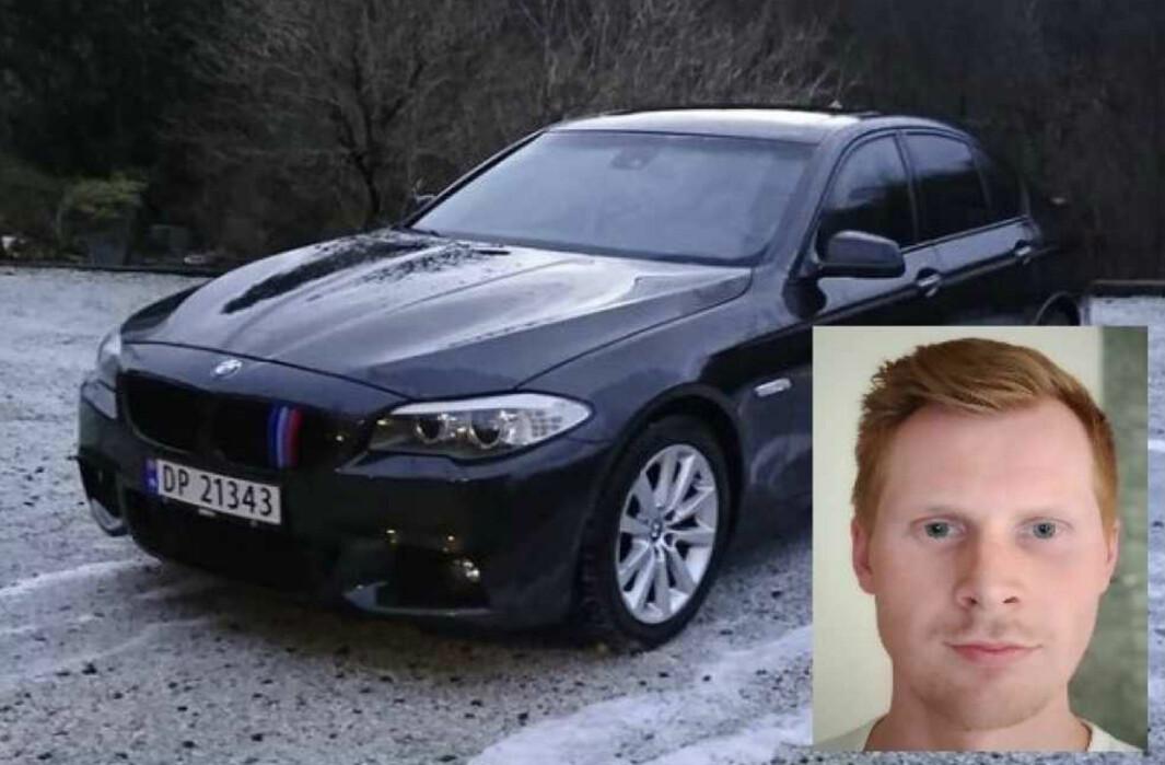 VANT FREM: Bruktbilkjøper Filip Lygre, som kjøpte denne BMW-en.