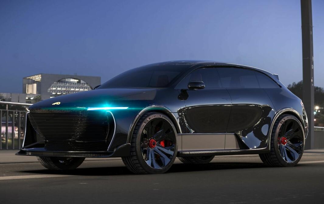 IKKE BESKJEDEN: Til tross for navnet søker ikke el-SUV-en Humble One å gjøre lite av seg. Med solceller skal den kunne gå ekstra langt.
