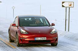 Model 3 napper tilbake norsktoppen
