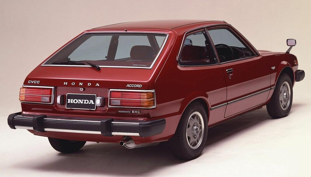 """<span class=""""font-weight-bold"""" data-lab-font_weight_desktop=""""font-weight-bold"""">NORGESFAVORITTER: </span>Honda Civic og Accord var svært populære her i landet på slutten av 1970-tallet og i starten av 1980-åra. Design, utstyr og personlig vinklet markedsføring – signert importør Hanne Skotvedt – skapte entusiasme i befolkningen."""
