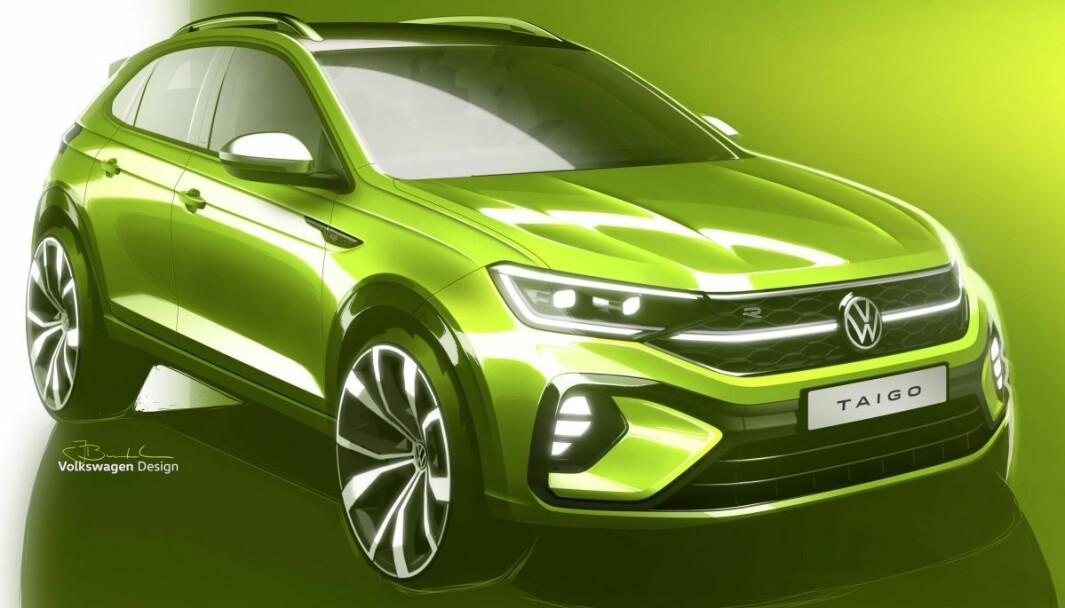 EUROPA-VERSJONEN: Taigo blir coupé-SUV-en fra Volkswagen, kjent fra før i andre markeder som Nivus.