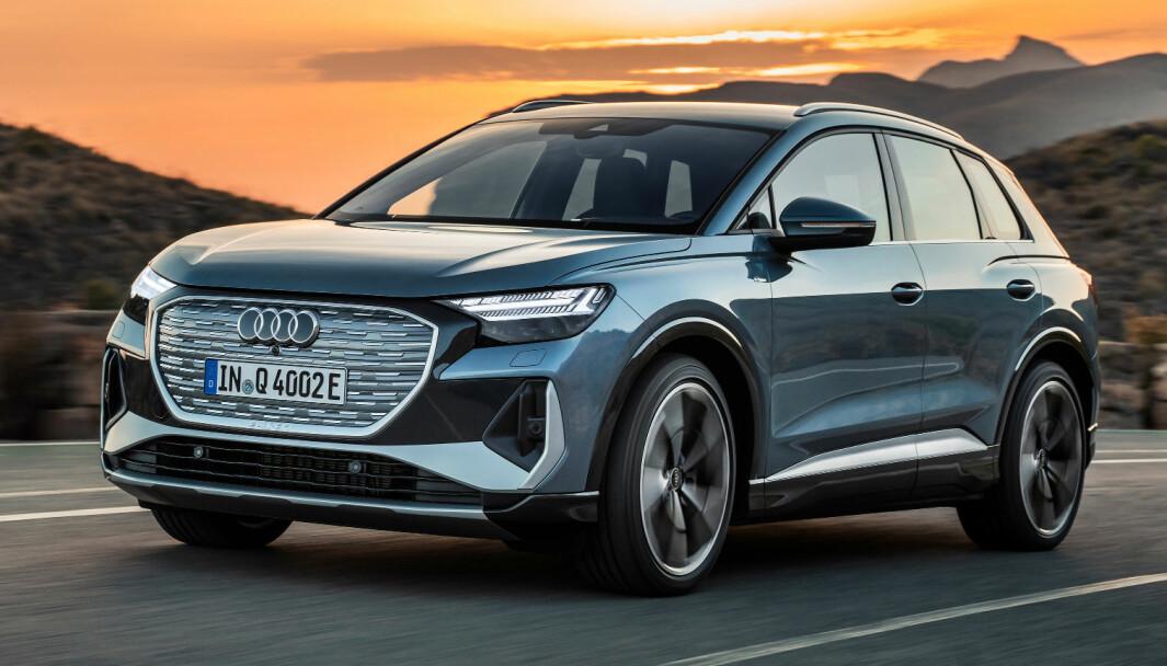 VERDENSPREMIERE: Audis elektriske kompakt-SUV, Q4 e-tron, ble presentert onsdag kveld.