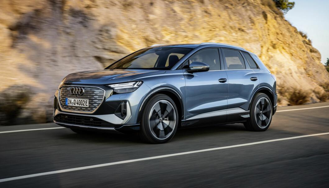 SLÅR AN: Audi Q4 e-tron ser allerede ut til å bli en av de desiderte storselgerne i annet halvår. Men hva er egentlig motoreffekten?