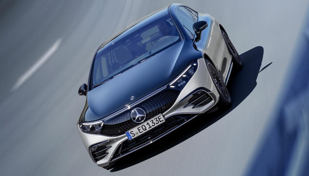 LEGGER LISTEN HØYT: Mercedes-Benz har ikke overlatt noe til tilfeldighetene når de lanserer sitt elektriske flaggskip.