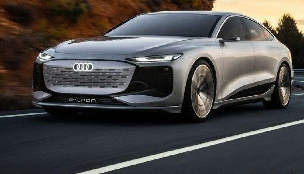 AVDUKES SNART: Audi A6 e-tron blir Ingolstadts svar på i5 fra BMW. Denne konseptbilen, som gir mer ennet hint om hvordan den skal se ut, skal vises i Shanghai.