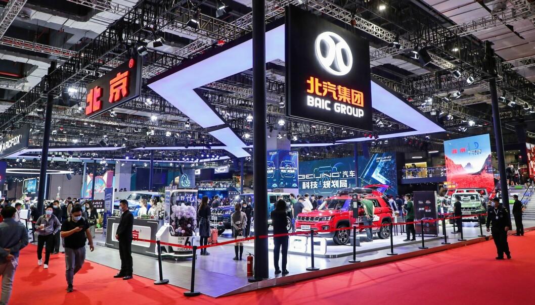 STØRST I VERDEN: Det kinesiske bilmarkedet er verdens største og nå er også bilmessen i Shanghai størst globalt. Tysk bilindustri satser stort her.