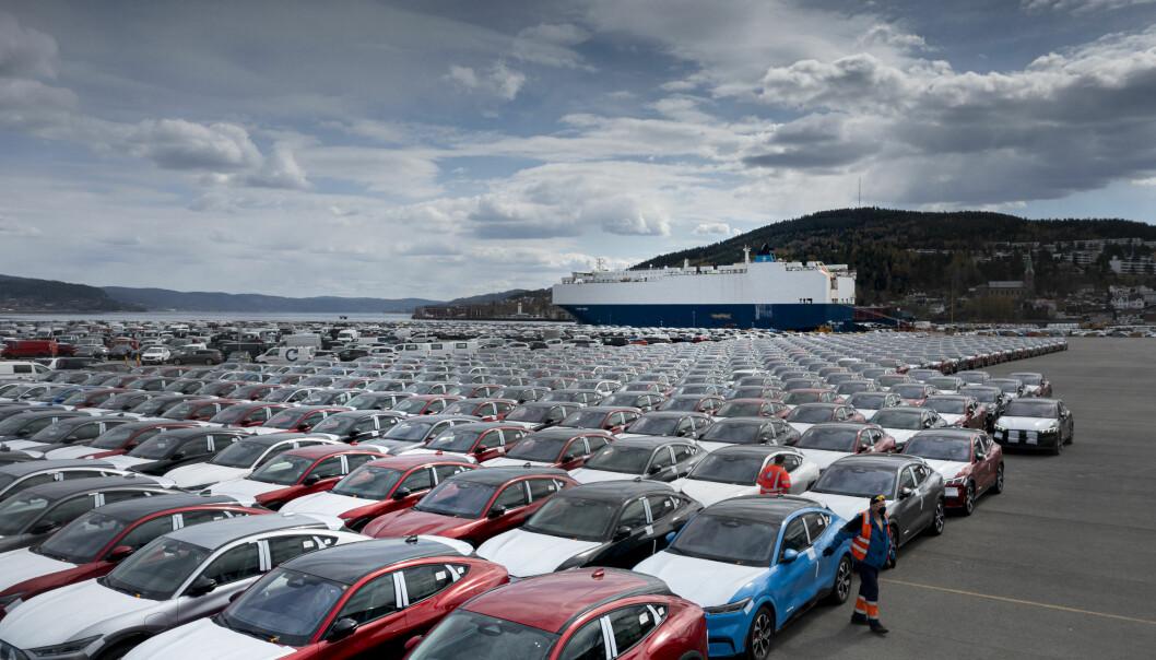 STRØMMER PÅ: Ford starter nå levering til kunder av sin Mustang Mach-e i Norge. Nå planlegges de neste modellene - som blir europeiske.