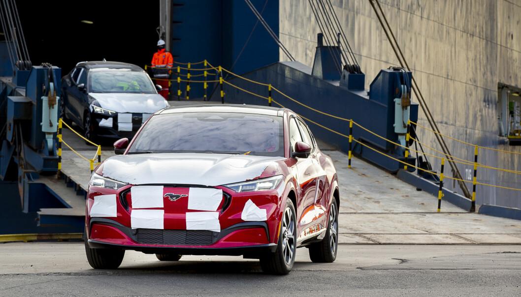 KOMMER: EUs tøffe utslippskrav gjør at Ford prioriterer Europa med sin utslippsfrie Mustang Mach-E.