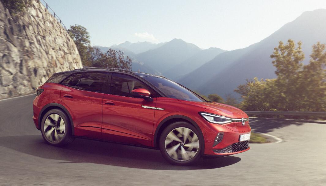 TREKKER PÅ ALLE FIRE: VW lanserte ID.4 GTX onsdag kveld.