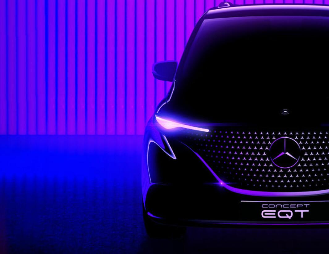 NY FLERBRUKER: Elektriske EQT skal snart avdukes som konseptbil, men kommer ifølge Mercedes til å være nær opp til kundebilen.