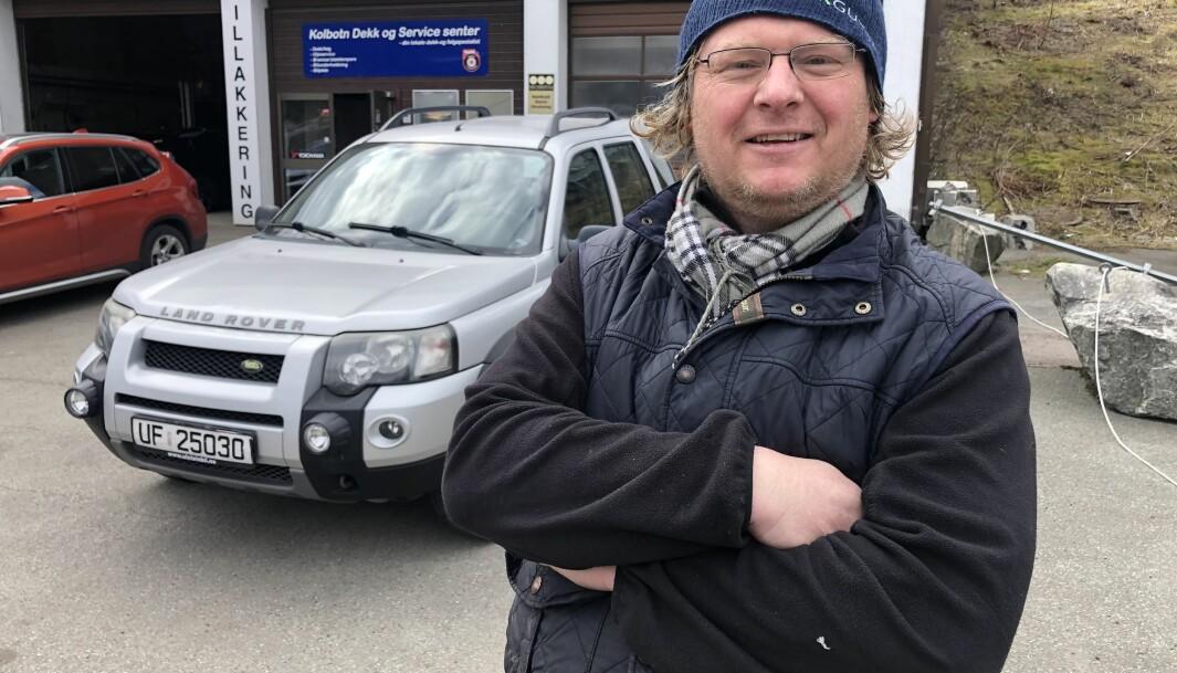 FERSK DIESEL-EIER: Petter Bruflat mener det er mye å spare på brukt diesel.