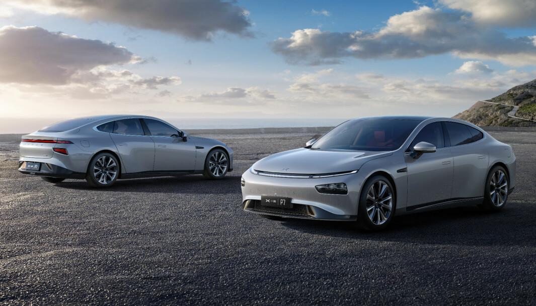 TESLA-KONKURRENT: Størrelsesmessig befinner Xpeng P7 seg mellom Tesla-modellene 3 og S.