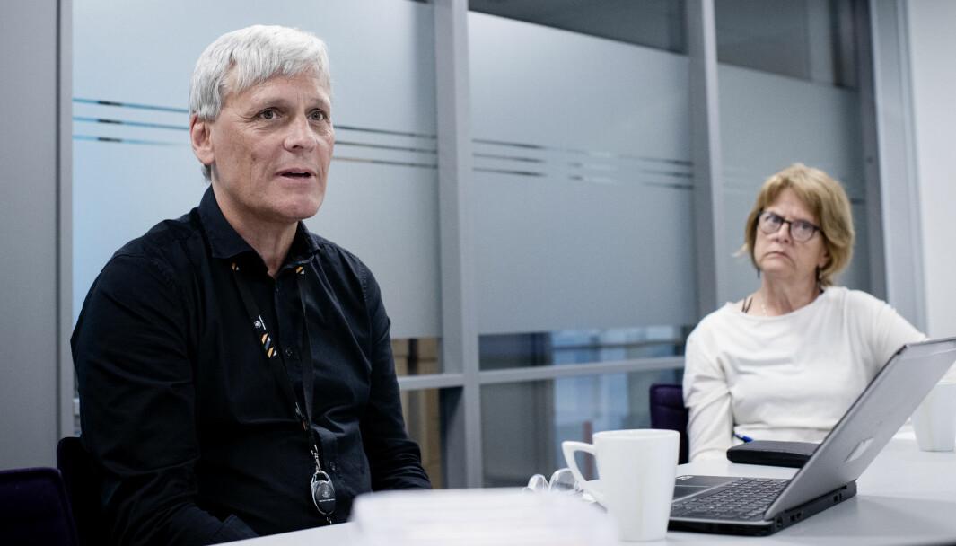 INGEN LOVHJEMMEL: Åge Jensen, sjef for brukerfinansiering i Statens vegvesen, og kommunikasjonsrådgiver Beate Viktoria Ørbeck.