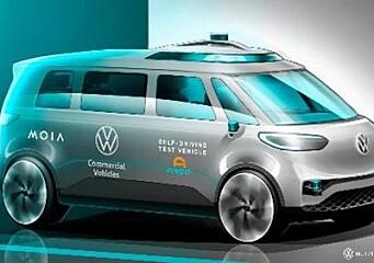 VW starter tester med selvkjørende folkevognbuss