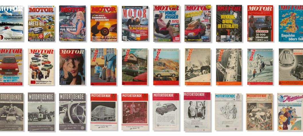 Her er finner du alle Motor siden 1930