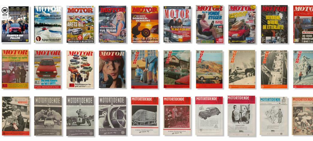 Her finner du alle Motor siden 1930