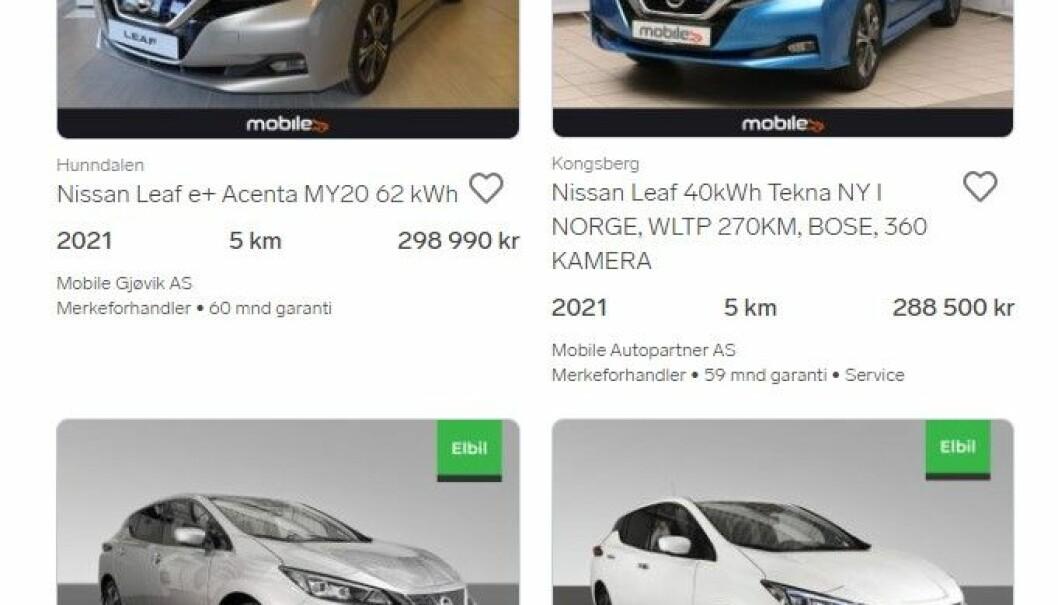 "<span class="" font-weight-bold"" data-lab-font_weight_desktop=""font-weight-bold"">GODT UTVALG: </span>Nye Nissan Leaf fra merkeforhandlere."