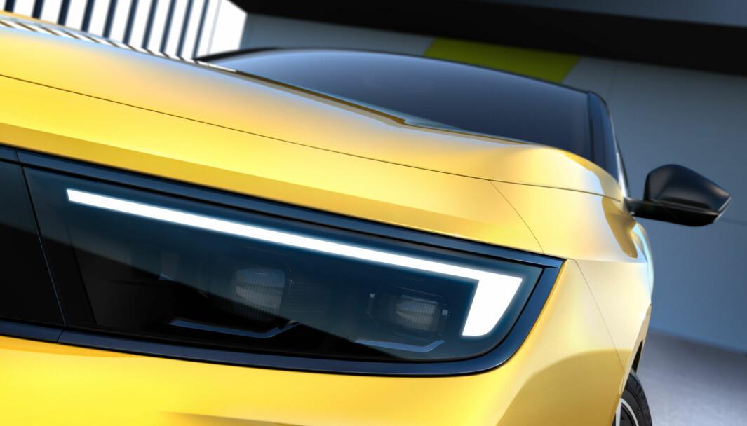 MODERNE: Opel Astra får et helt nytt uttrykk, og også elektrifisert drivlinje.